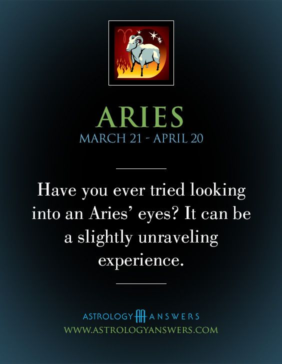 Have you ever tried looking into an #Aries eyes? It can be a slightly unraveling experience