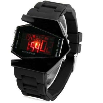 Sanda P028G Silicone Band LED Digital Men Watch for Outdoor Activities $3.99