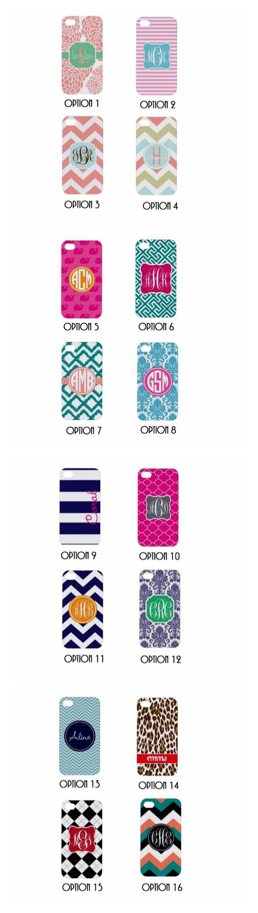 Monogrammed Phone Case - 57 different phone types available! $22.99 #♥monogram