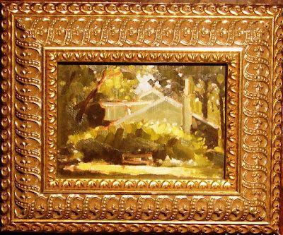 """Stuart Graham: The Secret Garden, Cabbagetown, oil/panel, 5""""x7"""" ..."""