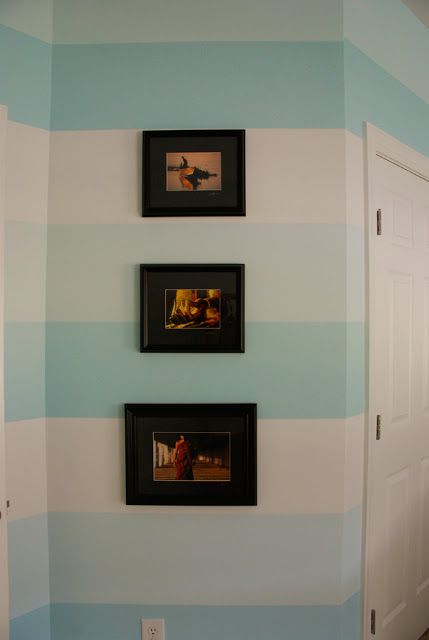 How To Paint Horizontal Stripes On A Wall by Honey & Fitz {DIY Saturday featured blogger at ACultivatedNest.Com}