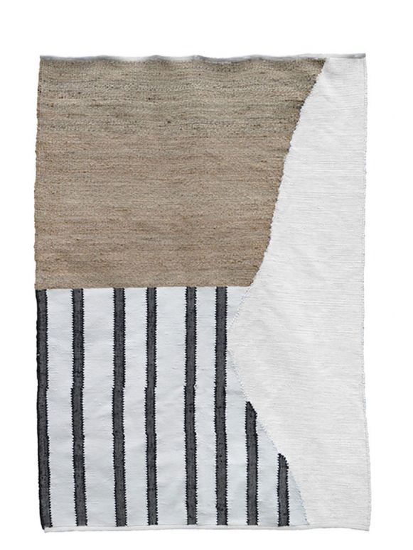 Cotton, jute + banana silk yarns - Organic Lines I Nodi Rugs