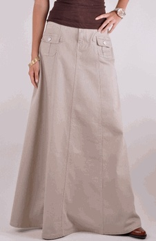 Casual Beige Denim Skirt, but they don't have this on the site anymore