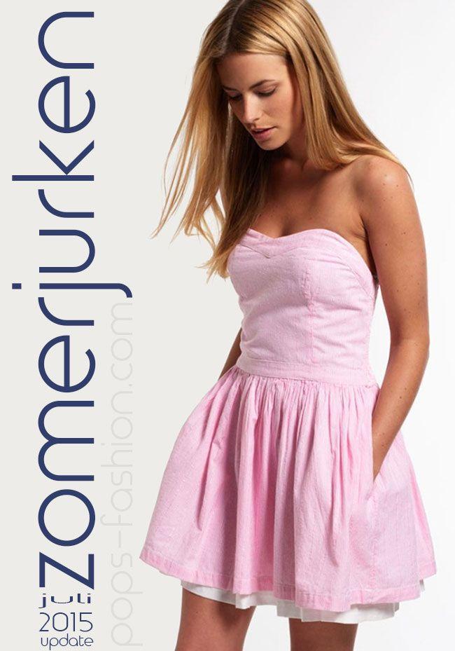 Damesmode kleurige zomerjurken,  juli 2015 update. een leuke korte jurk met kleurige bloemen, grafische prints, kleuren vlakken of gewoon in fel effen MEER http://www.pops-fashion.com/?p=23128