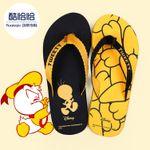Просто прохладно летом сандалии пара дома моды утка обувь клип ног плоские сандалии пляжные тапочки скольжения