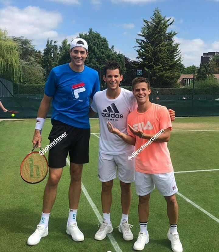 Dominic Thiem Diego Schwartzman Johnr Isner Tennis Pictures Tennis Players Adidas Tennis