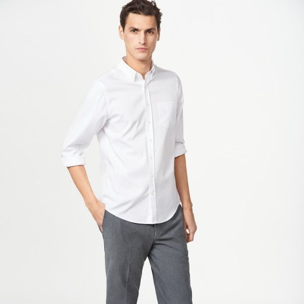 The Pinpoint Oxford Fitted Shirt