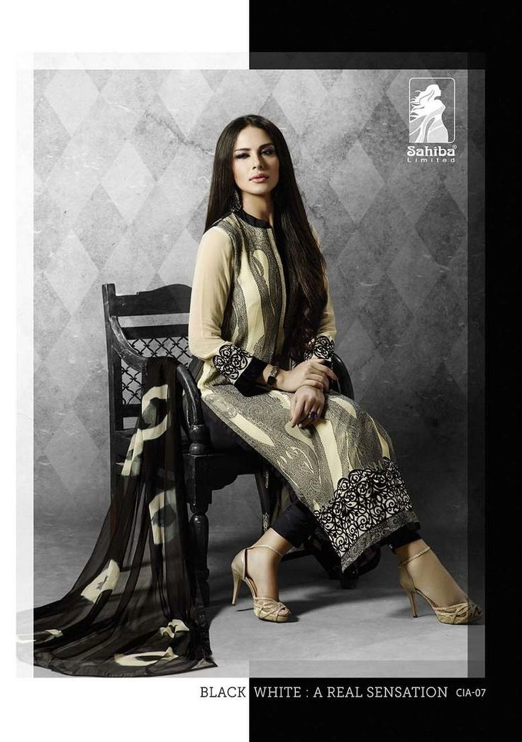 """Sahiba """"Ciara"""" Georgette with embd work Collections(7 pcs catalog)"""