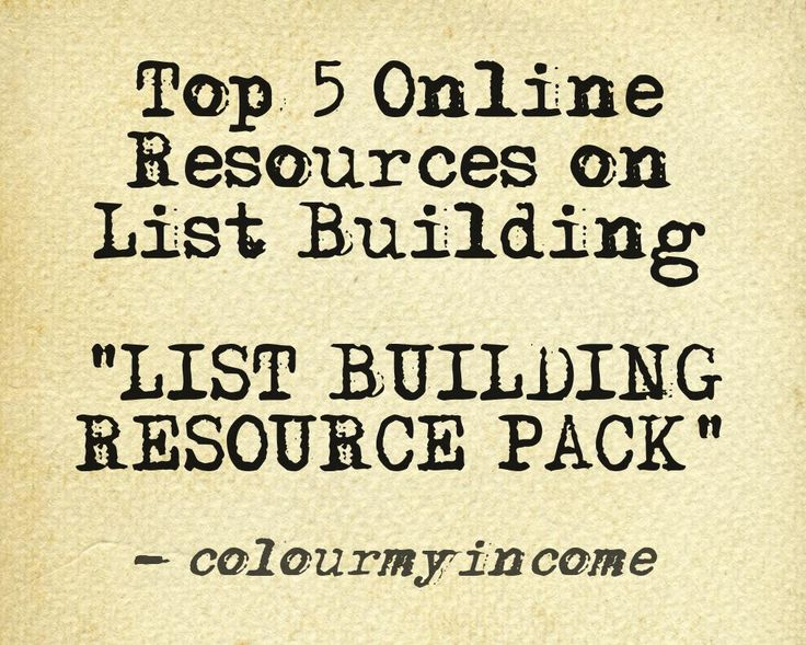 GET YOUR FREE LIST BUILDING JAB HERE  >> http://www.colourmyincome.com/2014/list-generation-top-5-online-resources-on-list-building/