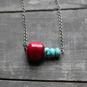 Coral: Design Inspiration, Turquoise Necklaces, Turquoi Necklaces, Jewelry Jenny, Beads Gemstones Jewelry, Fab Com, Necklaces Design, Coral Turquoise, Absolut Gems