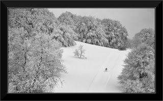 Randonnées en noir et blanc...: Ski de fond sur le plateau de Retord JURA FRANCE ESPACE ET LIBERTE