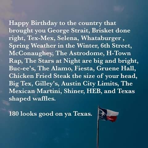 (S) Happy Texas Independence Day 2016