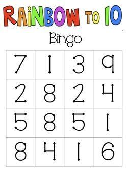 Rainbow Fact (Make 10) Bingo | MATH | Pinterest | Math, Rainbow ...