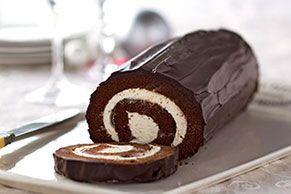 Here's the chocolate version of the classic jelly roll cake—and if you've never made it, fear not: We've supplied a how-to video!