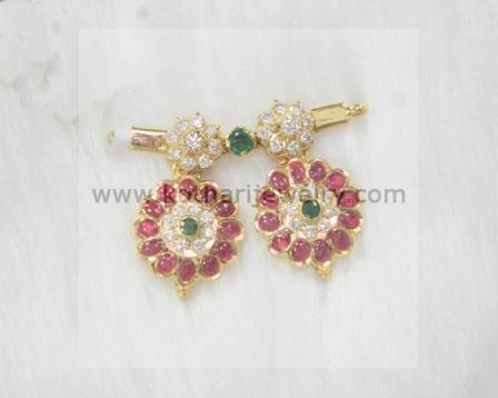 Diamond, ruby and emerald mangalsutra