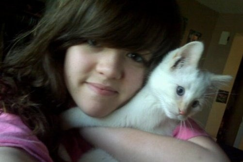 MY PRECIOUS DAUGHTER WITH HER KITTEN, I LOVE YOU KELCI!