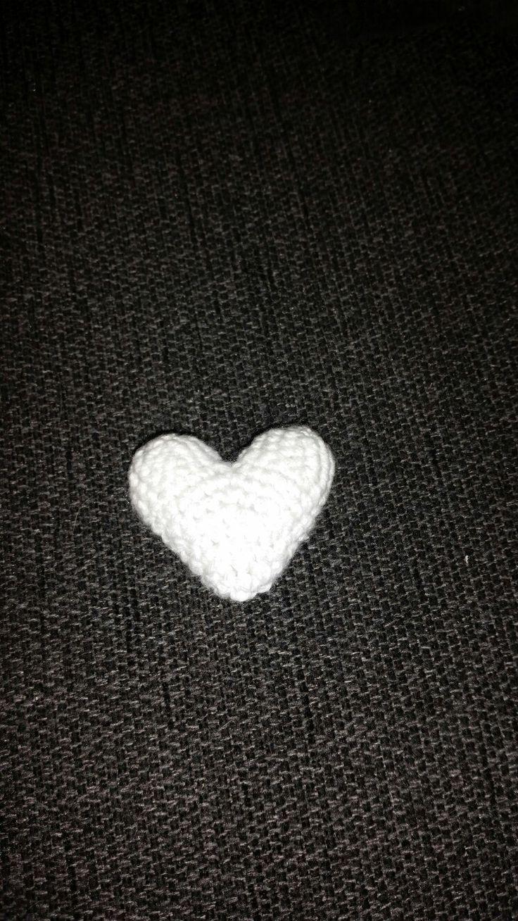 Hæklet lille hjerte
