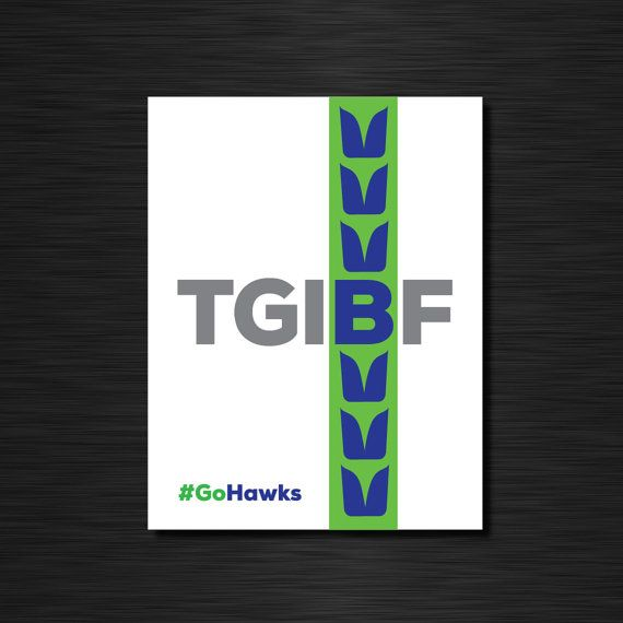 TGIBF Thank God It's Blue Friday by CiaofornowDesigns on Etsy