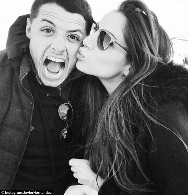 Javier Hernandez cosies up to girlfriend Lucia Villalon as 'blessed' star continues to enjoy life following Manchester United exit | 1hrSPORT