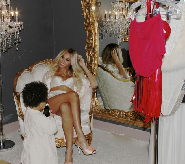 Just A Few Normal, Family Photos Of Blue Ivy Taking Pictures Of Beyoncé In Her Lingerie