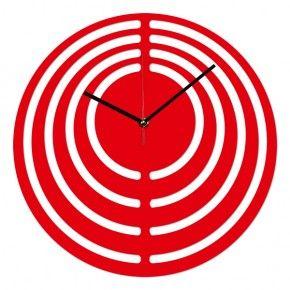Фото Настенные часы DidiArt Круглый лабиринт red
