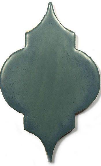 Grey Ceramic Handmade Tile - Marrakesh, glaze  Dove  by DeKa Ceramic Tiles