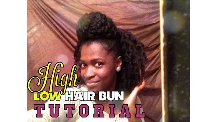 NATURAL HAIR | TOP KNOT BIG BUN FOR SHORT HAIR  #naturalhair #teamnatural #blackgirlmagic #naturalhairdaily