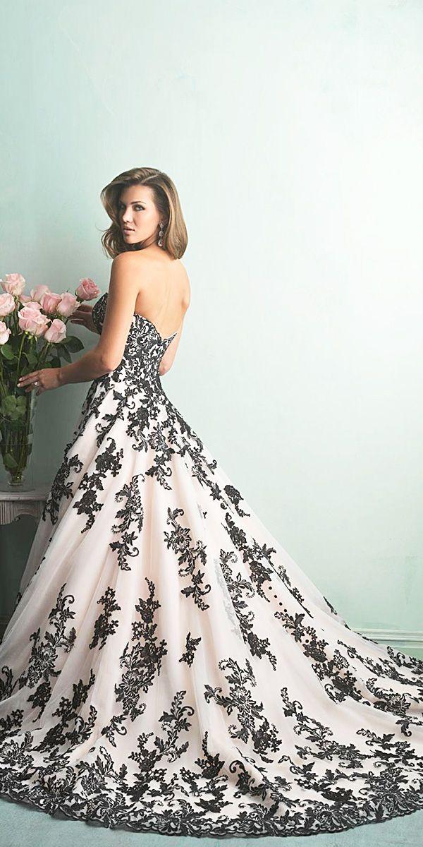 30 Black Wedding Dresses With Edgy Elegance ❤ See more: http://www.weddingforward.com/black-wedding-dresses/ #weddingdress