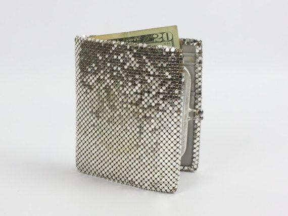 Vintage Silver Metal Mesh Bi Fold Wallet by by TheDreamersCo