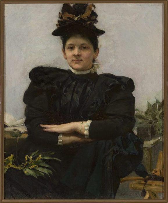 Portrait of Wanda Strazyńska (Józef Mehoffer - 1894)