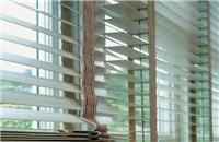 Cortinas horizontales de madera [bedroom wood blinds curtains windows covering decoración de ventanas]