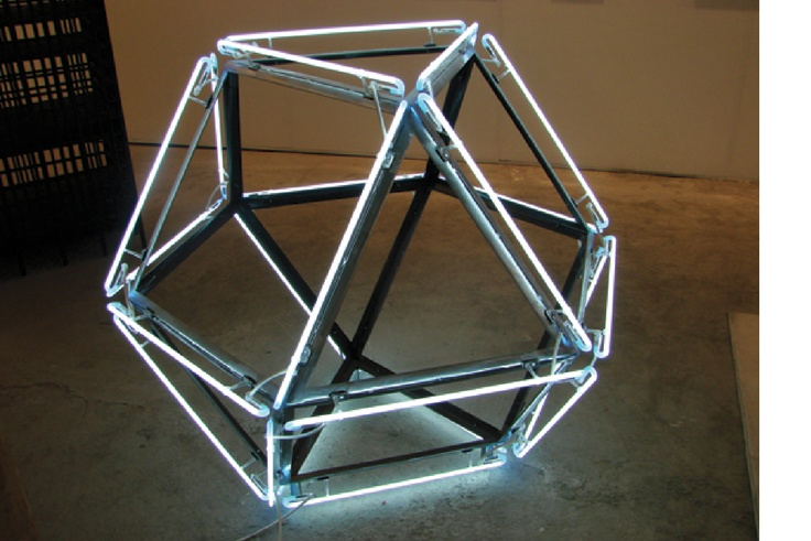 Máquina Cuántica, 2007  Steel and Neon light.  Dimensions variable.