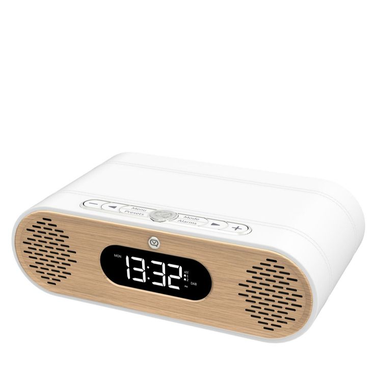 510032 - 509551 - VQ Rosie-Lee DAB/FM Radio with Bluetooth & Lifestyle Alarm - QVC PRICE: £100.00 + P&P: £6.95 or 2 Easy Pays of £50.00 +P&P  With a premium leatherette and genuine oak casing, the stylish Rosie-Lee DAB/FM radio from View Quest offers Bluetooth connectivity for playing music from your smart devices and streaming services, an option to save 30 of your favourite radio stations, plus a dual alarm setting for your work and weekend routines. Ideal for sitting on your bedside…