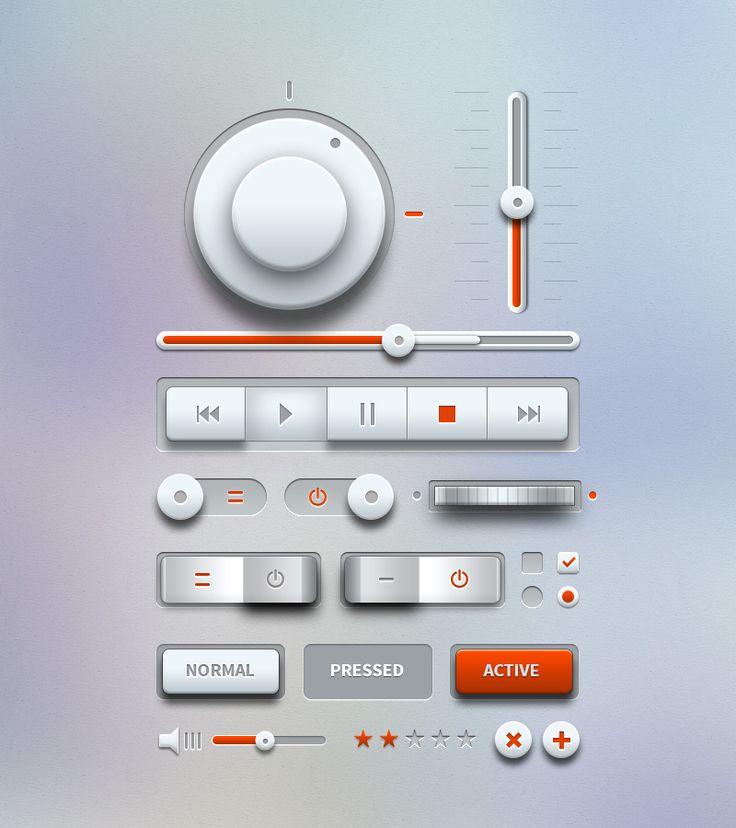 Free Light Music UI Design Kit