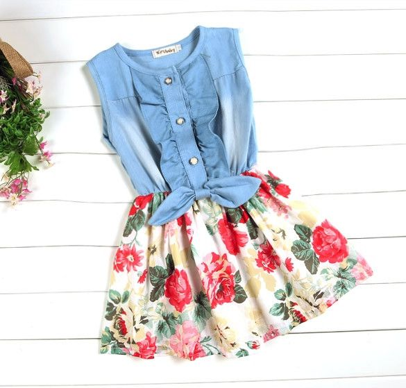 Just in time for spring this we bring you this adorable denim and floral dress. Product Information Customer Review(10) Images(0) Videos(0) Material: Cotton, Polyester, 2 Colors: Rose Red, Red. Color: As show in picture, Department Name: Baby Girls Sleeve style: Sleeveless Pattern type: Floral Size: There are 5 sizes (100,110,120,130,140) available for the following listing. please allow 1-2cm differs due to manual measurement, thanks (All measurement in cm and please note 1cm=0.39inch)…