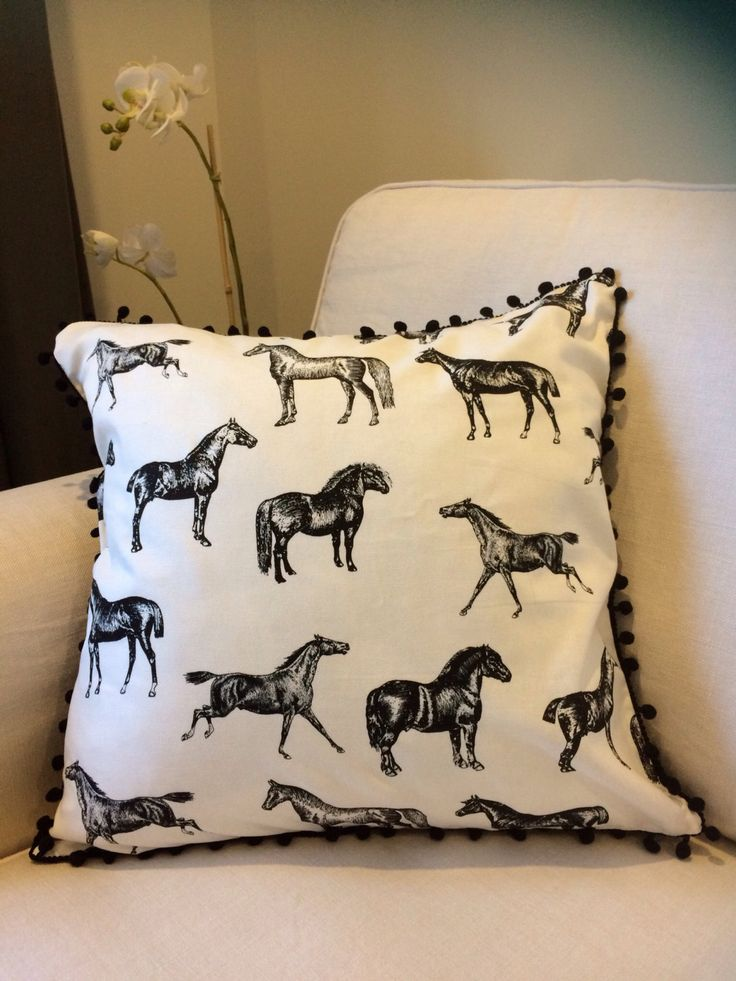 Horse print pillow, horse print cushion, equine pillow, throw cushion, black and white horse print cushion - 45x45cm by MandCHomeDesigns on Etsy https://www.etsy.com/au/listing/494082969/horse-print-pillow-horse-print-cushion