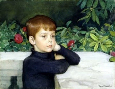 """Portrait of the Artist's Son,"" Eero Erik Nikolai Järnefelt (1863 - 1937)"