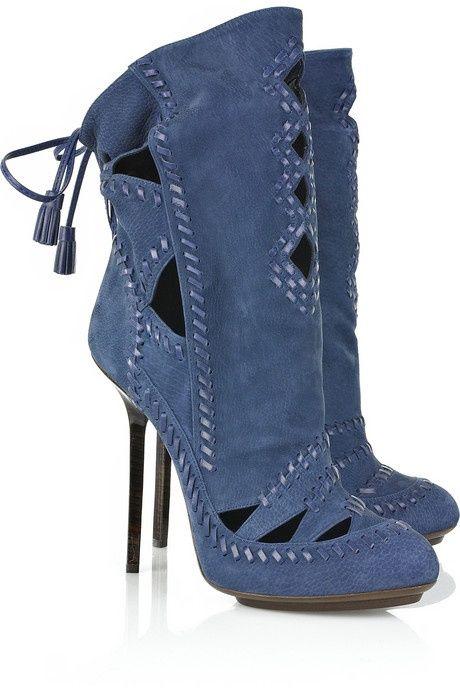 Emilio Pucci blue suede shoes