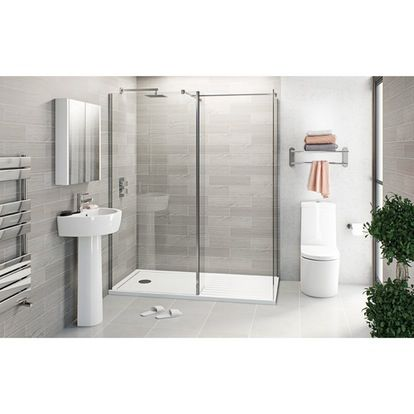 Arc Bathroom Suite with 8mm Frameless Walk In 1600 x 800
