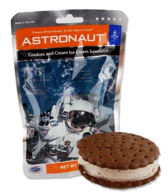 (10) Astronaut Space Ice Cream Cookies and Cream Sandwich Food Freeze Dried
