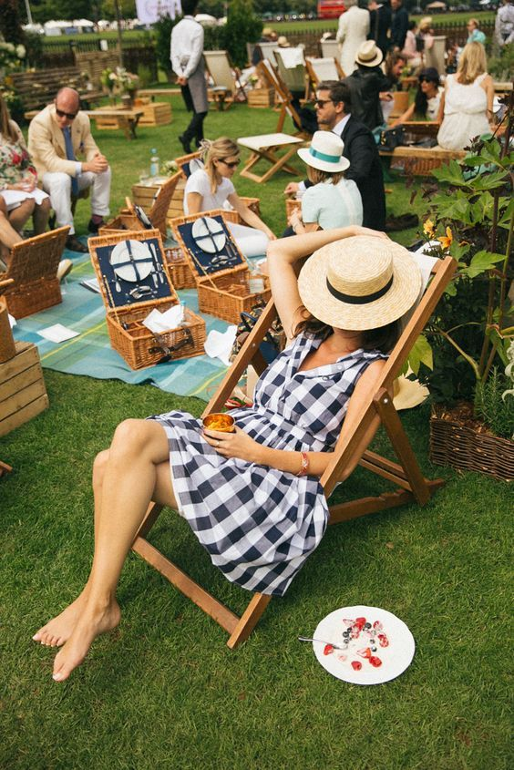 Picnicking in a London park during the summer in a deckchair - So English, it's why I love my country!