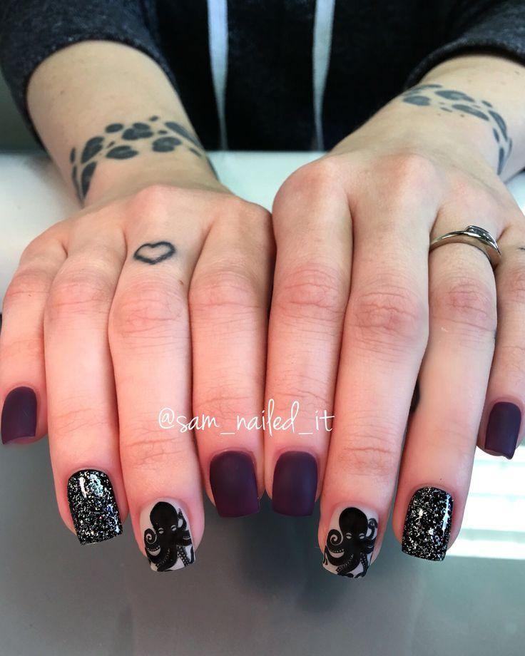 Matte Black Glitter Nail Polish: 1000+ Ideas About Matte Nails Glitter On Pinterest