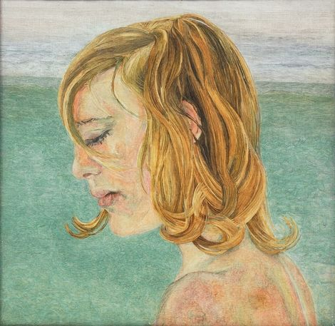 Lucien Freud, Girl by the Sea-1956 on ArtStack #lucien-freud #art