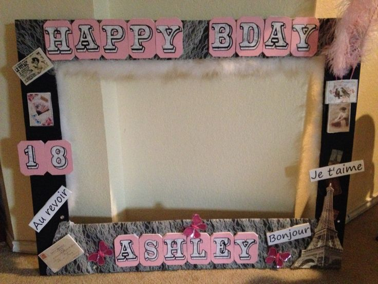 Paris Themed Photo Booth Frame Party Ideas Pinterest