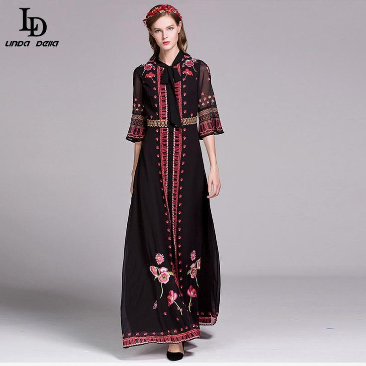 Floor Length Women Flare Sleeve Holiday Party Floral Printed Maxi Long Dress $82.16   => Save up to 60% and Free Shipping => Order Now! #fashion #woman #shop #diy  http://www.clothesdeals.net/product/ld-linda-della-2016-new-fashion-runway-dress-floor-length-women-flare-sleeve-holiday-party-floral-printed-maxi-long-dress