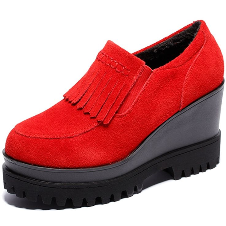Женские из натуральной кожи клин Sip - на туфли на высоком каблуке старинные свободного покроя удобные женские туфли на высоком каблуке весна осень туфли на высоком каблуке обувь для женщин
