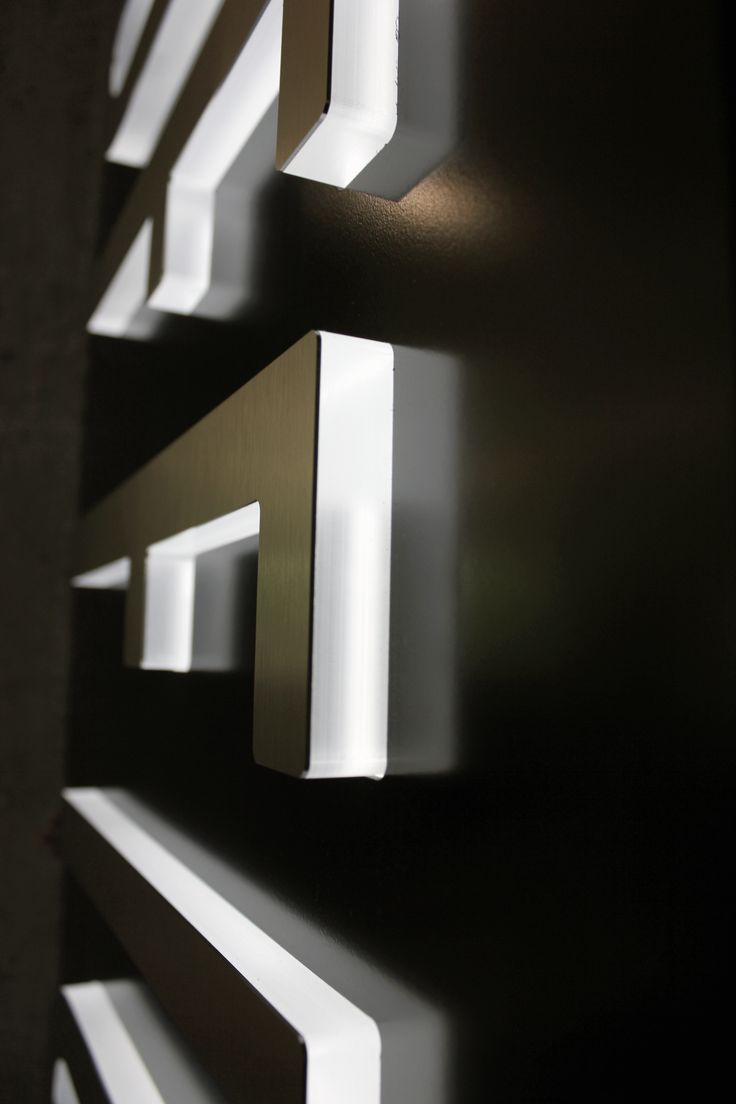 Push-through LED lit letters with aluminum fronts.  #TENFOLD  tenfoldbrand.com