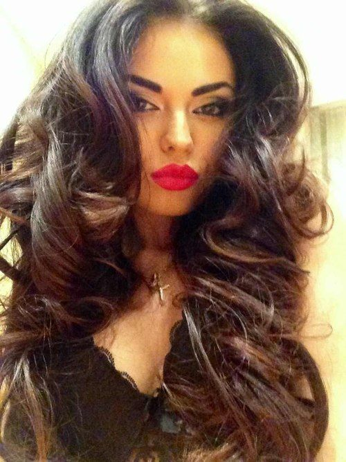 Big Hair And Red Lips. Pic Found On Tumblr