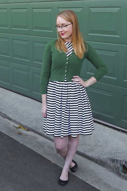 Day 16 Me Made May - 60's McCalls 6219, Stripes & Stripes Dress {via Jennifer Lauren Vintage}