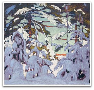 Lawren Harris  Snow on trees